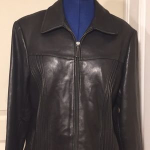 Jones NY 100% Genuine leather jacket XL